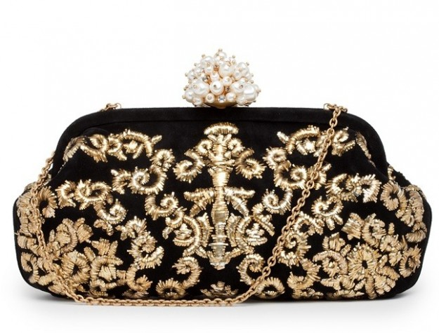 Borsa Dolce & Gabbana: clutch in nero e oro