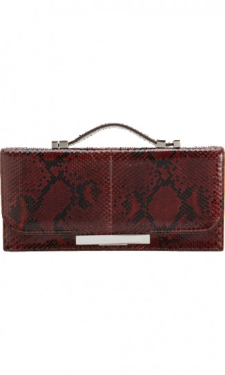 Baguette Clutch in pitone The Row