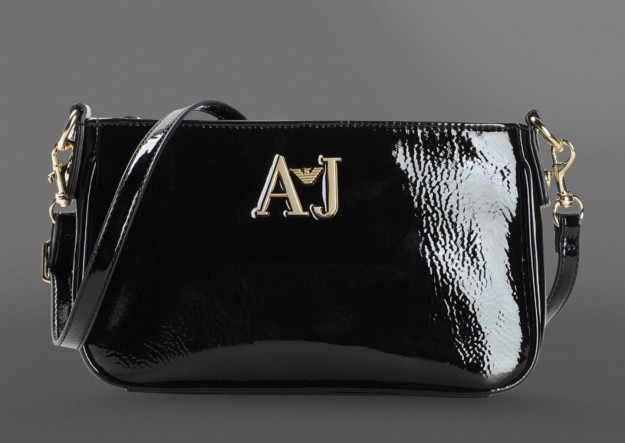 Borse Armani Jeans, clutch in vernice nera