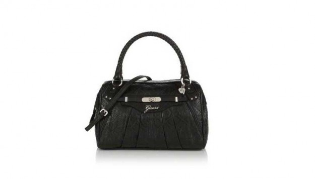 Guess bauletto in pelle nera
