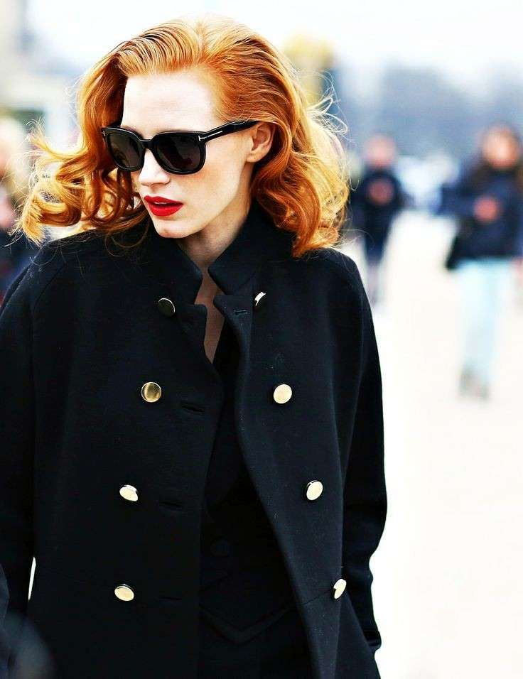 Jessica Chastain in Tom Ford sunglasses
