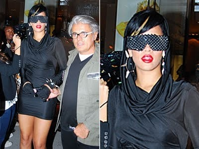 Occhiali da sole strani Rihanna