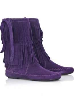 juicy couture stivaletti frange viola