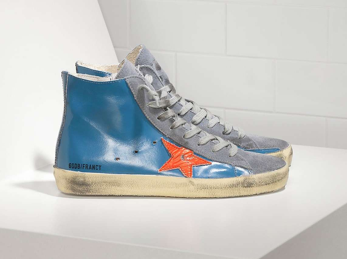 golden goose shoes blu