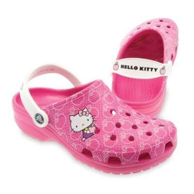 Crocs hello kitty rosa