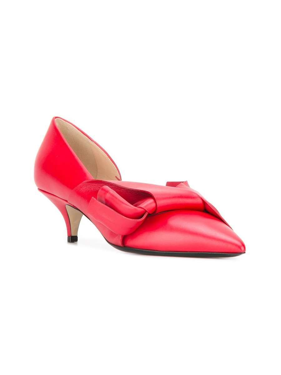 Pumps rosse con fiocco N21