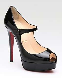 Christian Louboutin, mary jane Bana in vernice nera