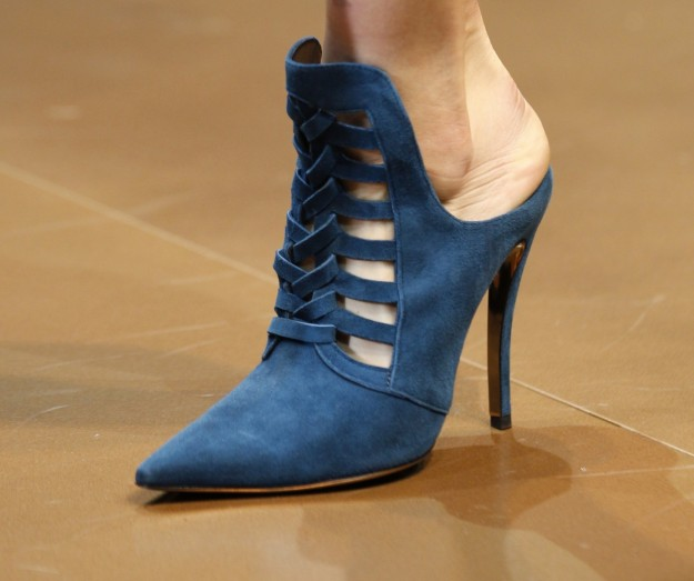 Ankle boot blu Versace