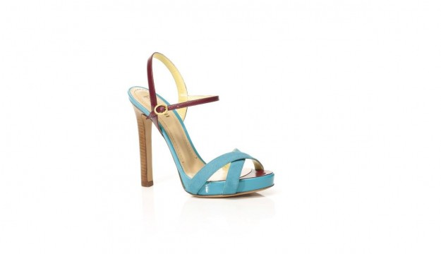 Scarpe Pollini, sandali in color block