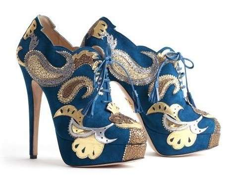 Scarpe Charlotte Olympia, gli ankle boot Orient Express