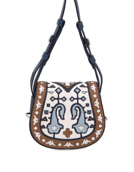 Borsa a tracolala effetto patchwork Tory Burch