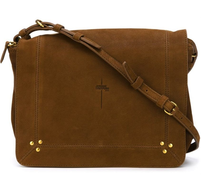 Borsa postina a tracolla in suede Jerome Dreyfuss