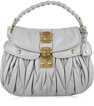 Miu Miu Matelasse Leather Bag
