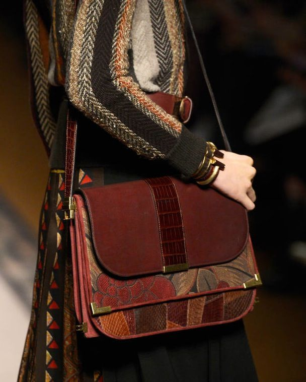 Shoulder bag con inserti damascati Etro
