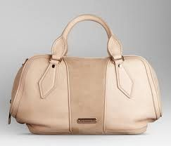 burberry leather and suede bowling bag
