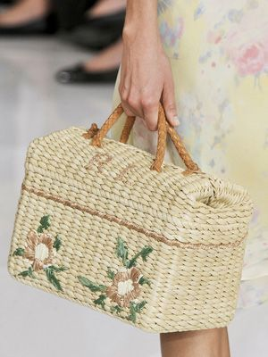 ralph lauren straw bag