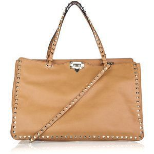 valentino rock stud leather shoulder bag