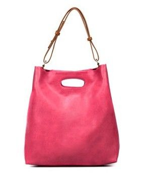 zara pe 2012 shopper ecopelle rosa