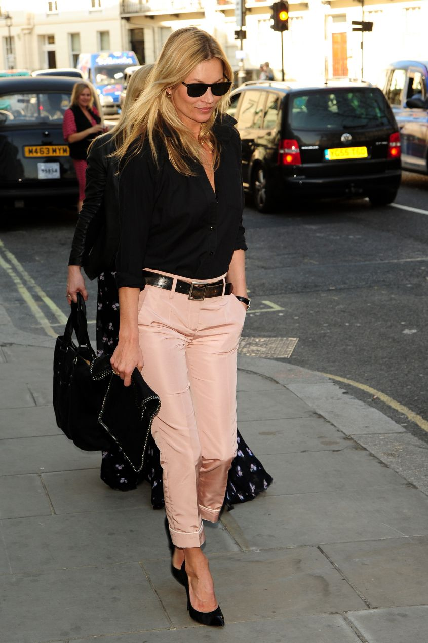 Kate Moss leaves HIX restaurant in London