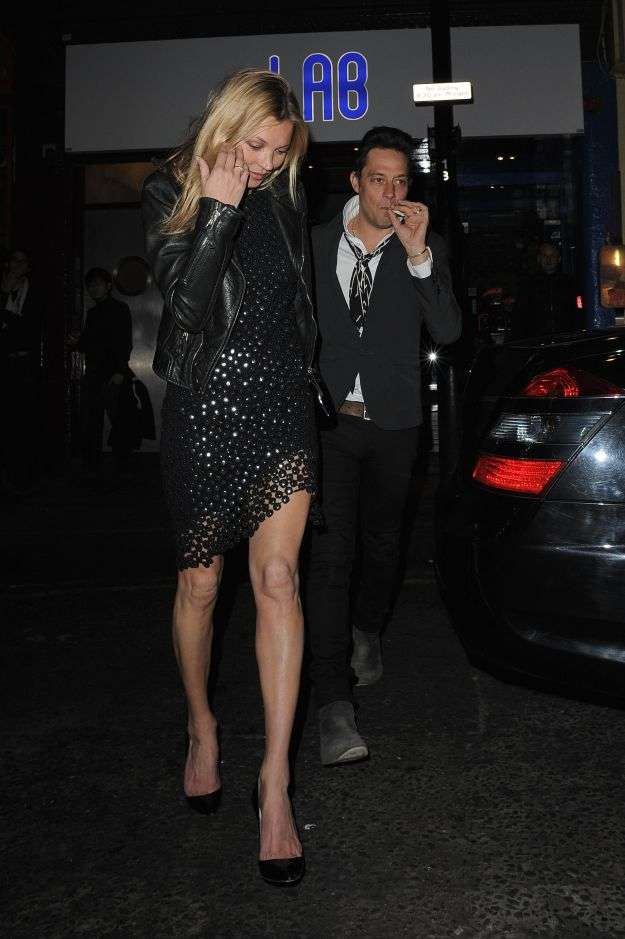 Kate Moss and Jamie Hince arriving at La Bodega Negra