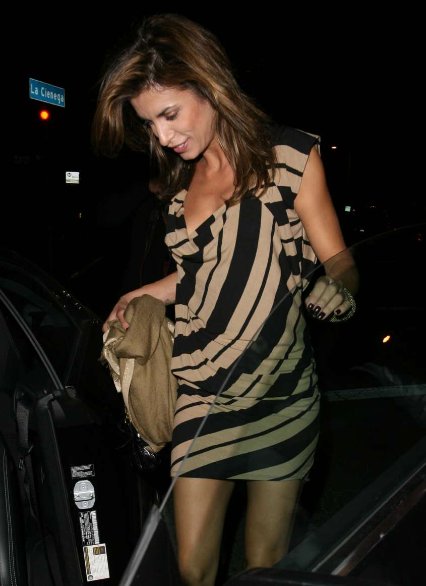 Elisabetta Canalis leaving STK restaurant in West Hollywood