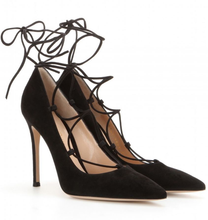gianvito rossi lace up in suede