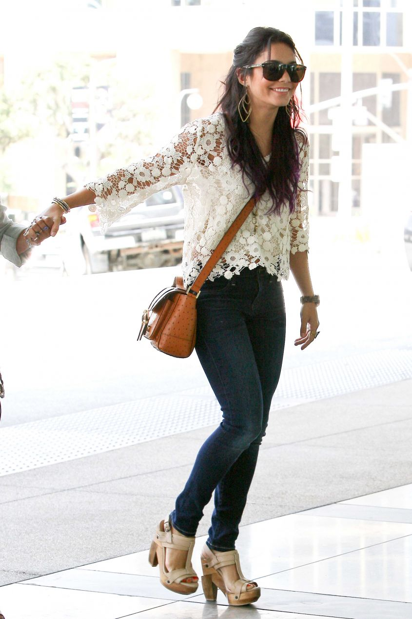 Vanessa Hudgens out with her mother in Beverly Hills, CA