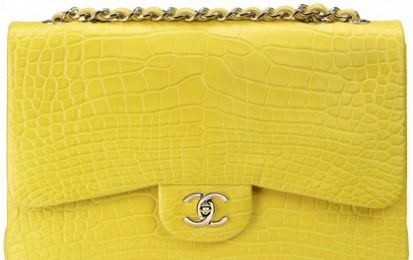 La frizzante Chanel Classic Flap in alligatore giallo limone