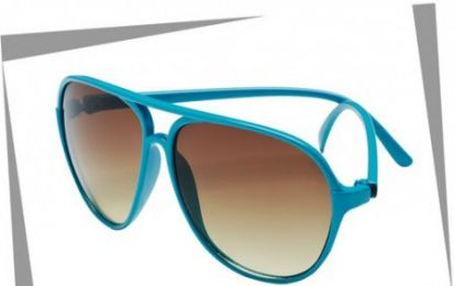 I sunglasses aviator turchesi targati H&M, super cool!