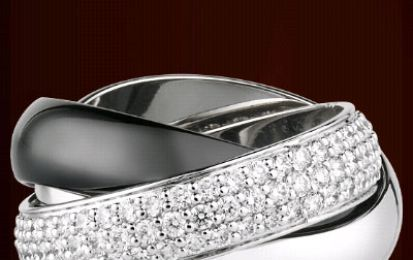 Cartier, gioielli black&white per la Trinity Collection