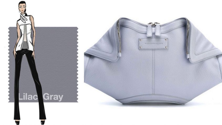 Clutch in Lilac Grey Alexander McQueen