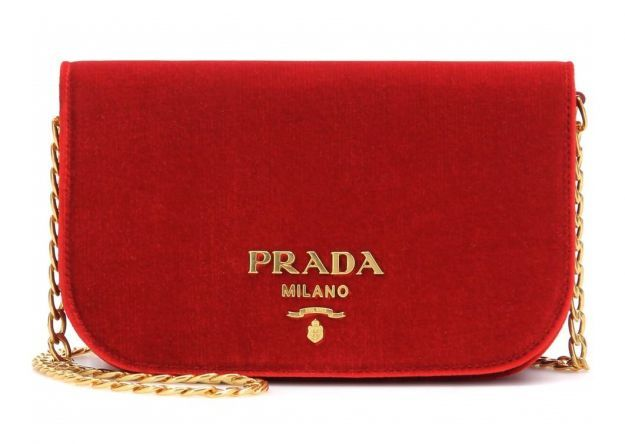 Clutch in velluto Prada