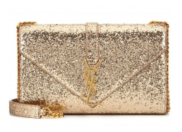Clutch oro Saint Laurent