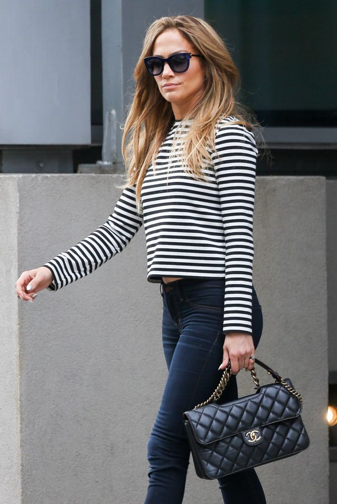 Jennifer Lopez con borsa Chanel Flap Bag