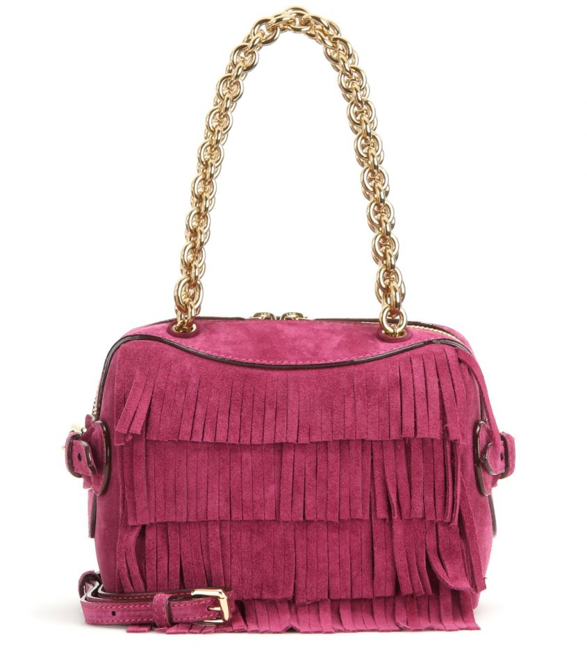 Shoulder bag frange fucsia Burberry