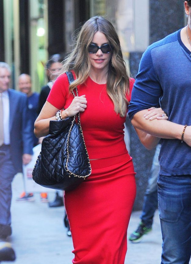 Sofia Vergara con chanel chain trim shoulder bag