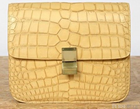 Borse Celine: Classic Croco Flap Box Bag