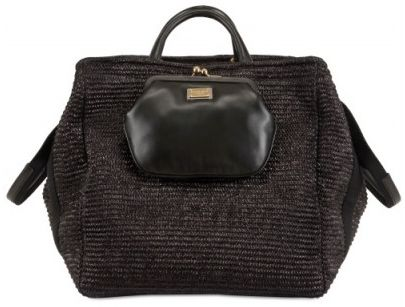 Borse Dolce & Gabbana: la Raffia and Nappa Top Handle