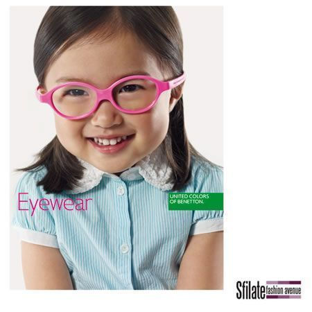 "Benetton: gli occhiali da vista ""Only for kids"""