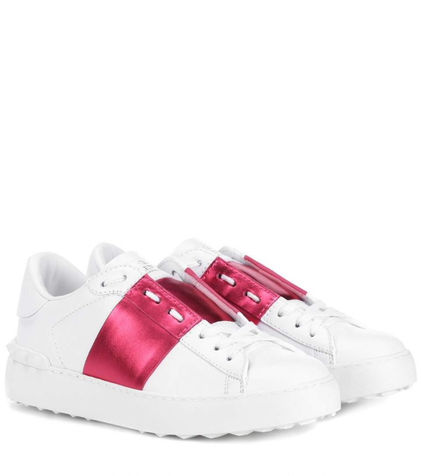 Sneakers bianche in pelle Valentino