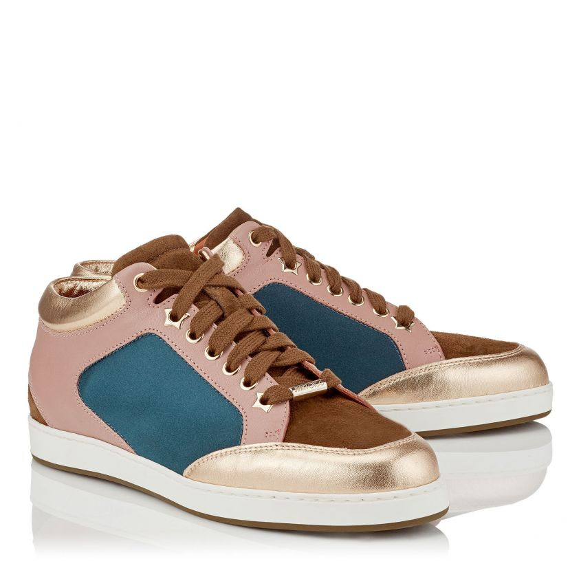 Sneakers in pelle e satin Jimmy Choo collezione primavera estate 2018