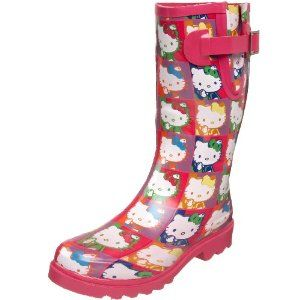 Hello Kitty: i rain boots!