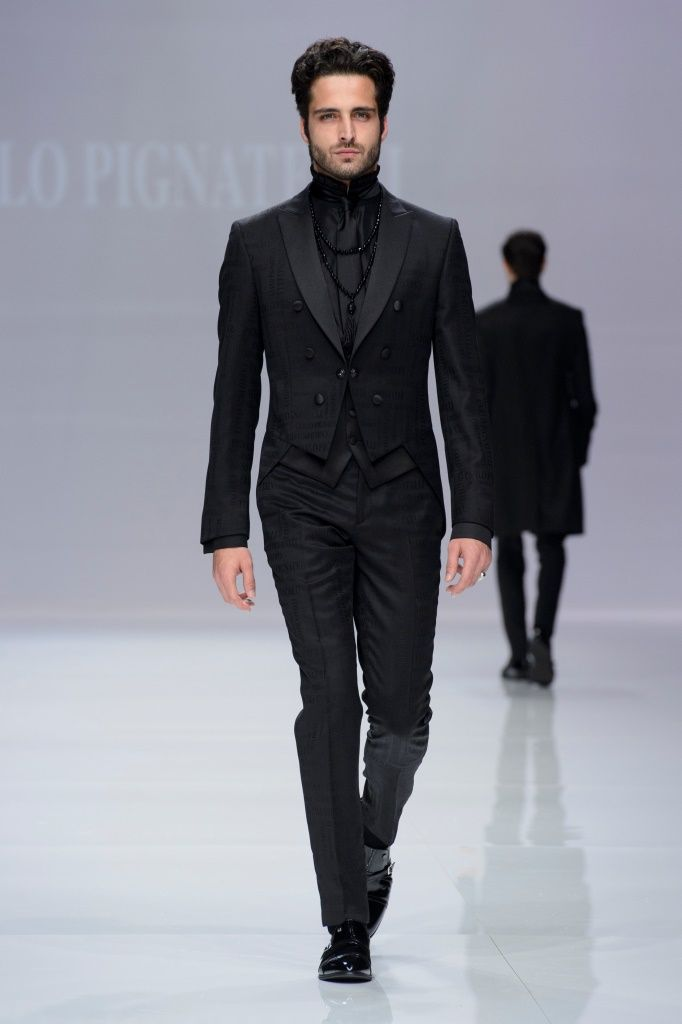Abito da sposo in total black Carlo Pignatelli