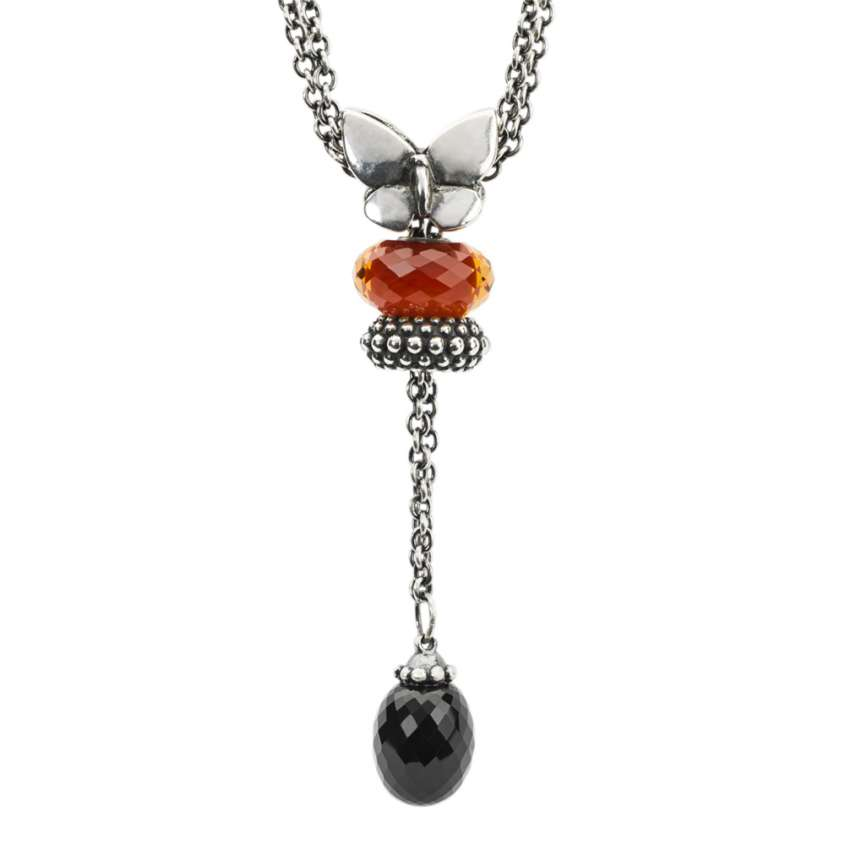 Collana in argento con onice nero Trollbeads