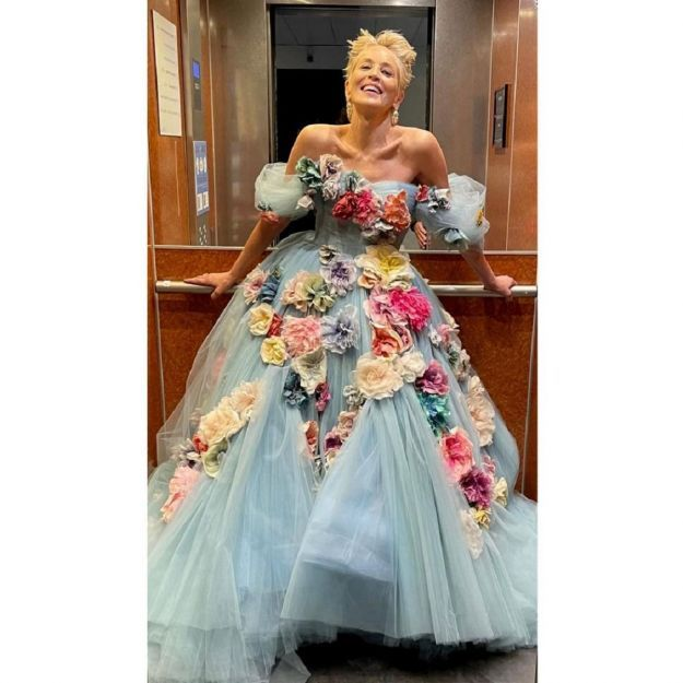 dolce & gabbana couture sharon stone cannes