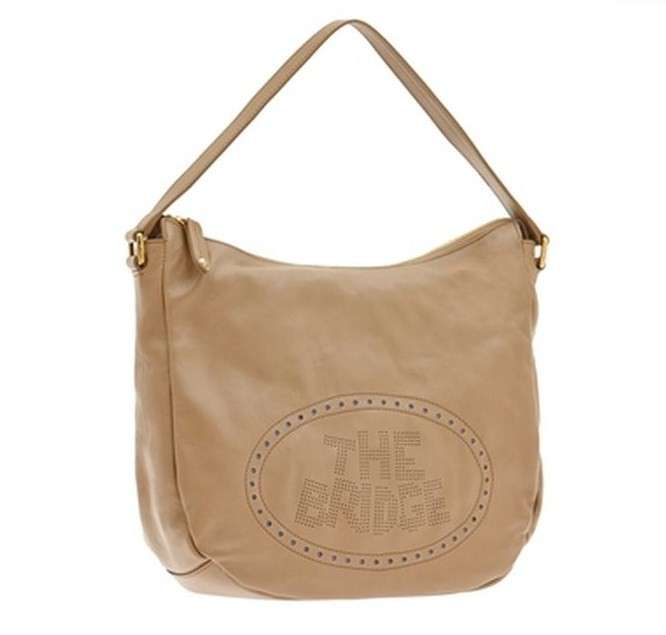 Hobo in pelle beige The Brisge