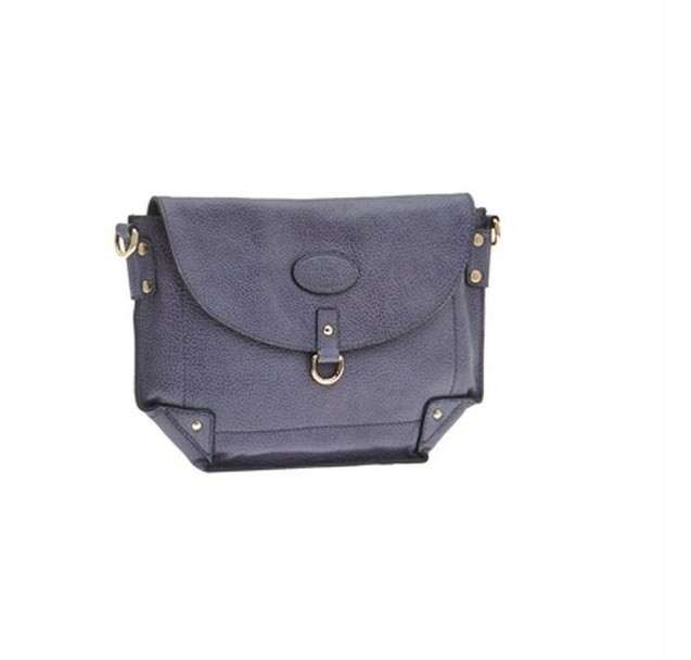 Clutch in pelle grigia