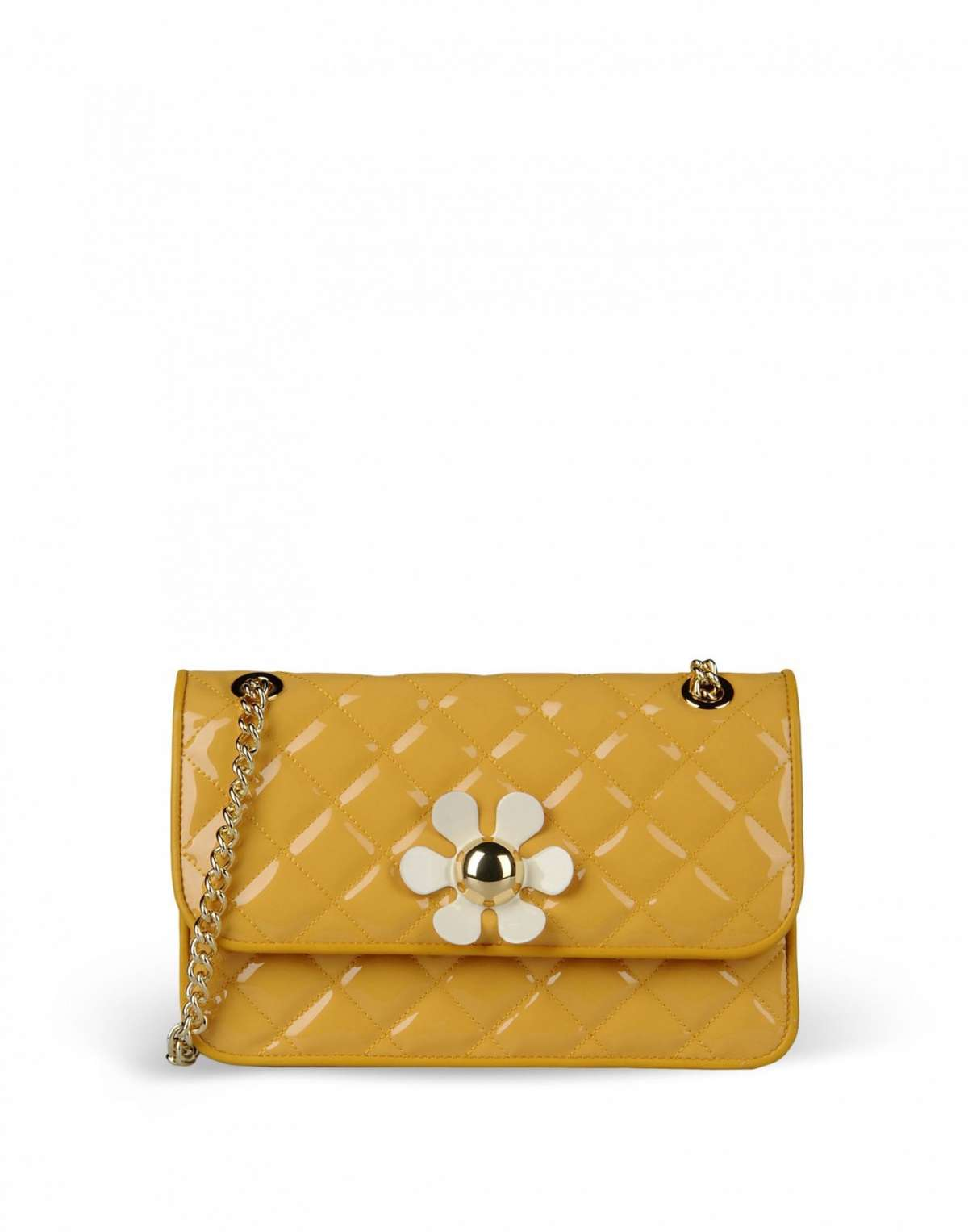 Tracolla ocra Moschino Cheap and Chic