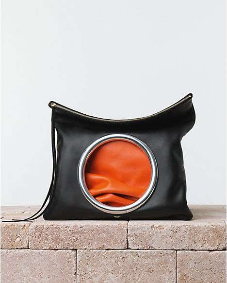 Clutch Celine nera e orange