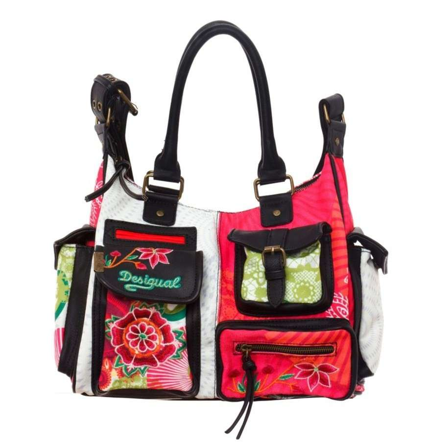 Handbag in toni pastello Desigual